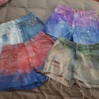 #b1gt1bazaar Ombre shorts