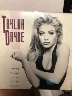 """Taylor Dayne With every beat of my heart 12"""" single record"""