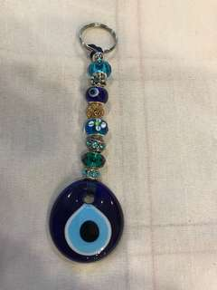 Blue eyes key chain