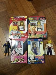 Vintage 1990s dragonball Z figurines