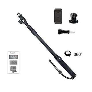 360 Spin Selfie Monopod Extension Pole for GoPro SJCAM Action Camera