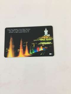 SMRT Card -Sentosa's night scenery (Single Trip Card)