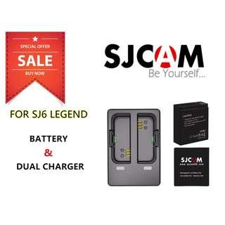 SJCAM SJ6 LEGEND 1000mAh Battery & SJ6 Dual Charger