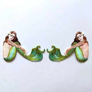 Mermaid Tattoo Pin Up Iron On Patch
