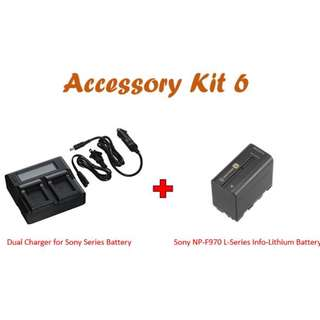 Dual Charger for Sony Series Battery +Sony NP-F970 L-Series Info-Lithium Battery