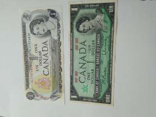 1967 and 81 Canadian dollar nearly unc for sale