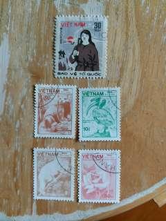 越南郵票  已銷郵票
