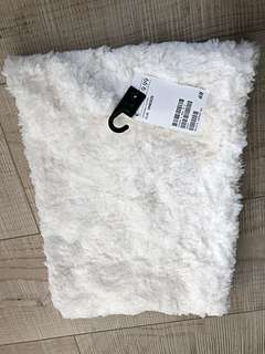 Brand New Auth Fluffy Tube Scarf - White