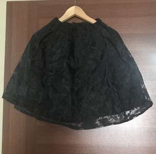 BN Black Lace Skirt with elastic waistband