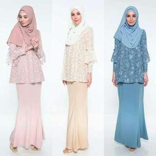 2018 Fiya kurung Raya Eid Bridesmaid Baju Melayu