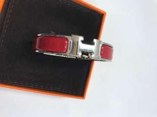 Hermes Bracelet 紅色銀扣全新購自巴黎