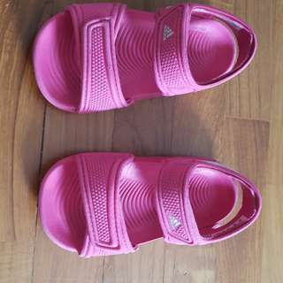 Adidas Sandals size 5K (US), girls approx. 2 years