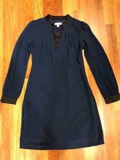 Mod House Dark Blue Work Dress