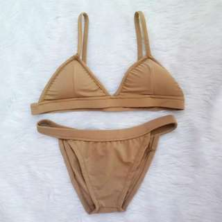 mango two piece - nude