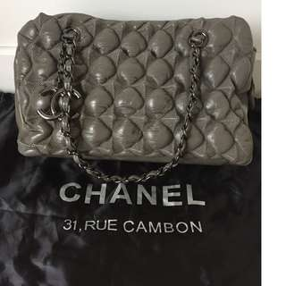 Chanel Grey Color Lady Bag