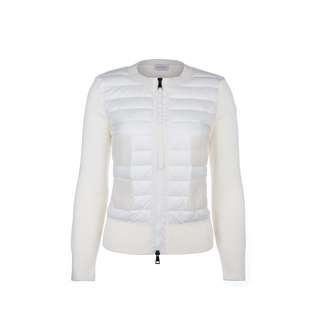 MONCLER - 絎縫羽絨針織拼接外套