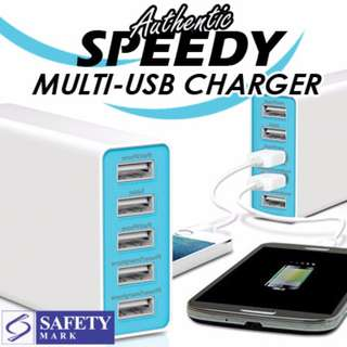 Speedy 6 ports portable usb charger