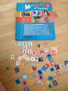 Magnet matching number book