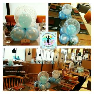 Set of 10 Bubble Balloon Centerpieces for Party