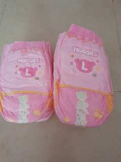 Huggies Pull Up Pants for girls Pink L Large Size