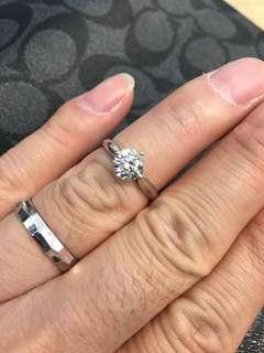 18k金鑽石戒指1D-1.06ct
