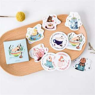 Animals in a Cup MINI Stickers