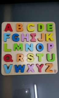Wooden Alphabet toy Hape ABC Puzzle