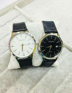 Original OUDYS Watch P250 with DATE Leather STRAP  HIGH QUALITY  WATER PROOF