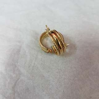 Earring yellow gold 14k (1.8g)