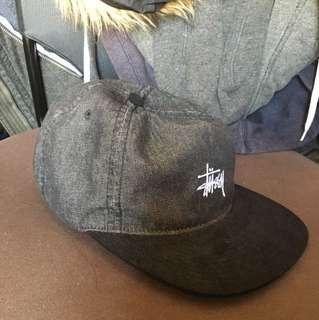 Stussy 5panel cap black denim