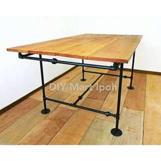 150cm Industrial Loft Rustic Style Hard Wood Dining Table Multifunctional Table