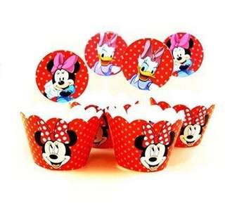 Mickey/Minnie Mouse Cake Toppers & Wrappers