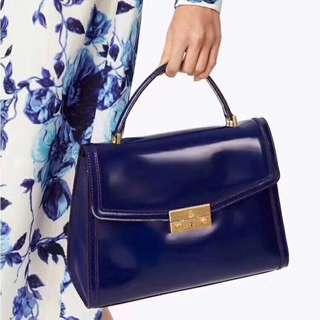 Tory Burch Leather Blue  Juliette Bag