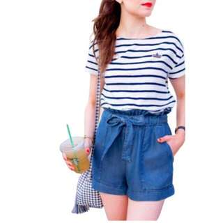 korean terno short & top