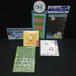 Card, stickers, origami paper, photo bag