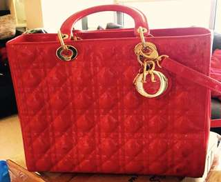 Lady Dior Red Leather