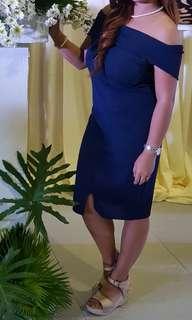 Navy blue classy dress