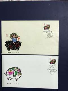 China stamp 193 T80 A/B FDC