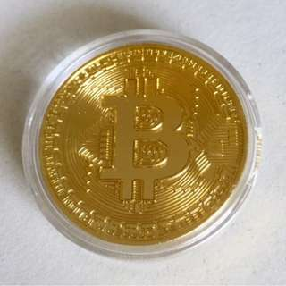 BN CryptoCurrency Investor Summit Gold Bitcoin Souvenir collectible