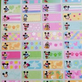 Mickey Mouse waterproof name sticker label