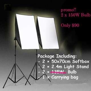 Studio lighting 50*70cm softbox kit product photography lighting