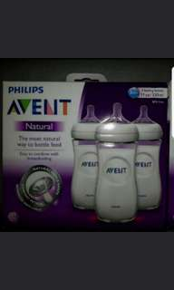 Avent natural 330ml x 3 bottle