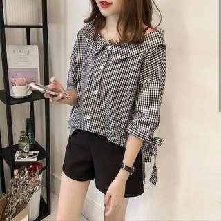 Checkered Top Shirt