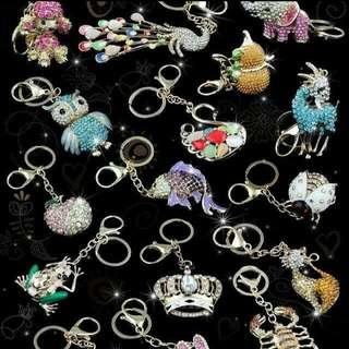 Diamond studded key chain supply