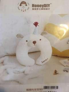 DIY baby pillow kit - cute dog design