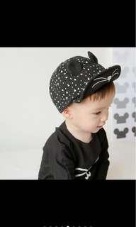 🚚 超可愛寶寶可調式小耳朵帽子