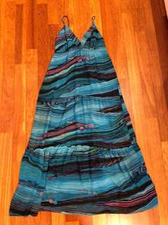 FTE Long blue beach dress, UK size 6