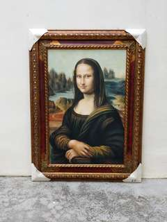 Oil Painting Of Leonardo DaVinci's Monalisa