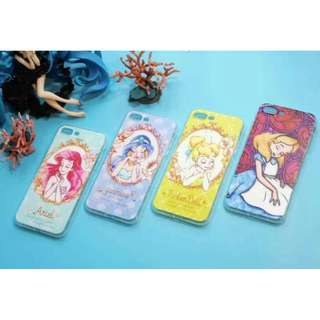 手機殼IPhone6/7/8/plus(沒有X) : 愛麗絲美人魚公主全包邊軟殼