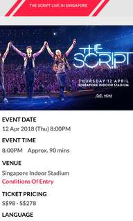 The Script VIP tickets Indoor Stadium